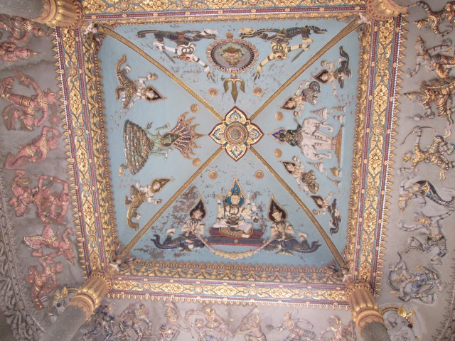 Historic paintings in the Patuxai  Laos Victory Gate, Vientiane's Arc de