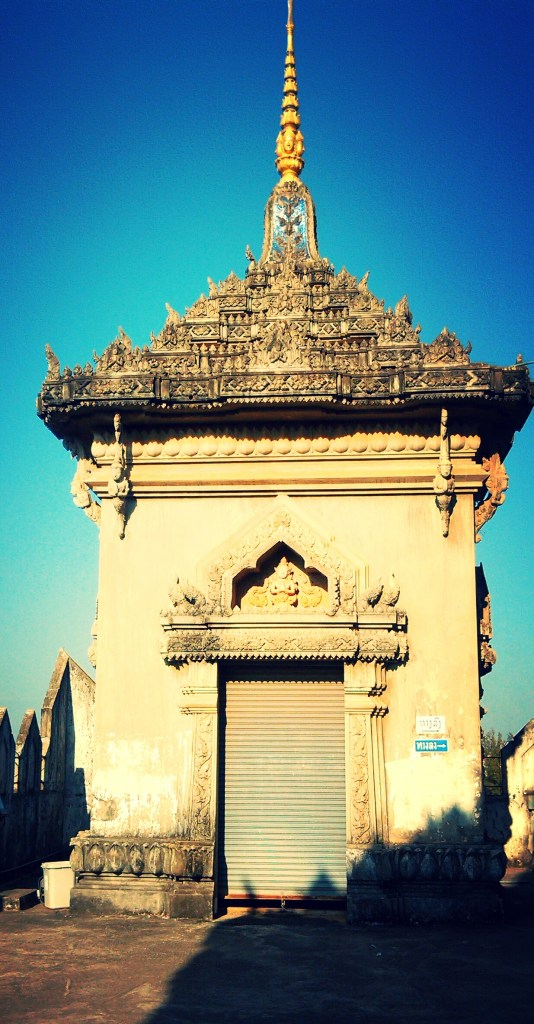 A smaller monument at Patuxai  Laos Victory Gate, Vientiane's Arc de