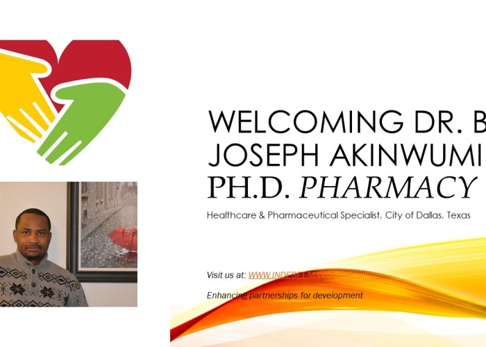 Welcoming Dr. B. Joseph Akinwumi