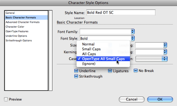 Small Caps vs. OpenType All Small Caps - InDesignSecrets ...
