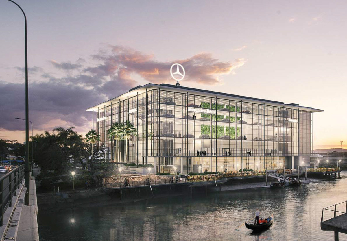 Mercedes Benz Showroom Bretts Wharf | InDesign Technologies