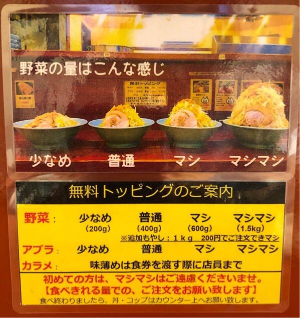 立川マシマシ5号店無料トッピング