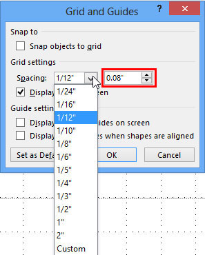 Snap To Grid : Settings, PowerPoint, Windows
