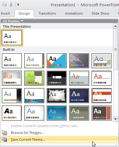 Save powerpoint template as theme | Prezi