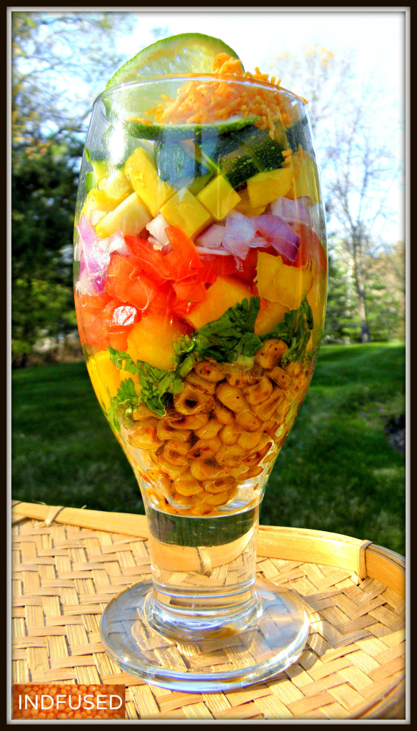 Corn Bhel Salad- Mouth watering chaat combined with healthy veggies!