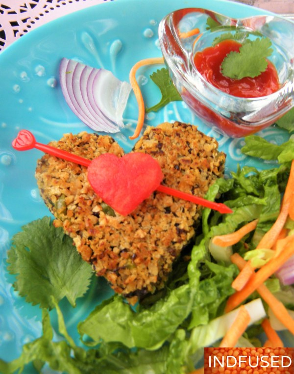 #Valentinesday #hearthealthyrecipe for #vegetarian #vegan,#gluten-free #scrumptious #kebab #with #organic #quinoa #spinach, #sweet potato,#ginger, #garlic , #sweet potato and #defatted #high #protein #soy #granules