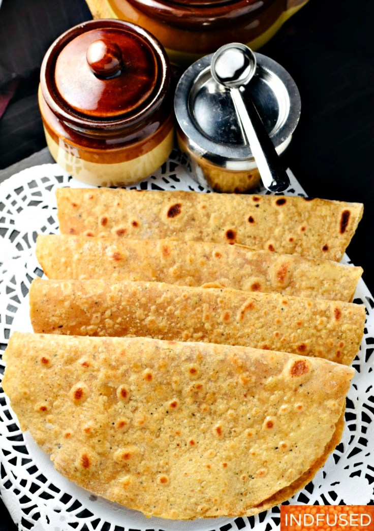 Everyday Khajurachi Poli- is a luscious whole wheat bread naturally sweetened with dates and scented with cardamom.