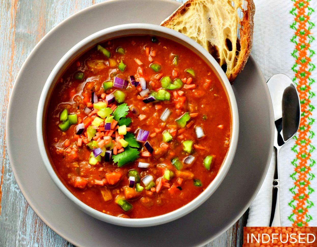 Creole Inspired Vegetarian Stew- loaded with crispy crunchy veggies and gluten free!