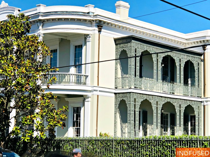 French Lattice work on homes was a way of displaying wealth