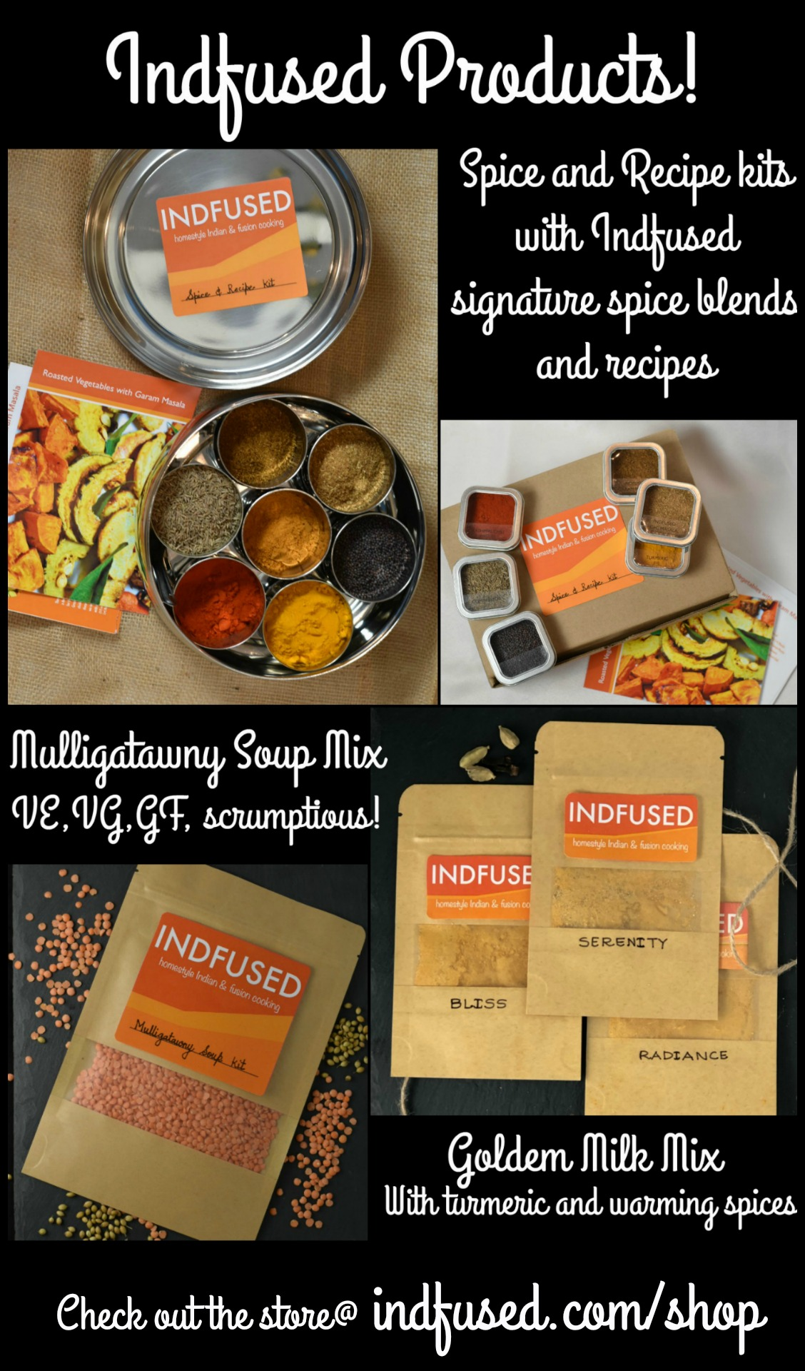Indfused products in the online store for indian and fusion cooking.
