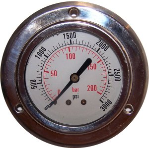 3000 PSI - Panel Flange Gauge