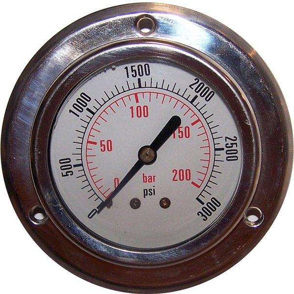 3000 PSI - Panel Flange Gauge
