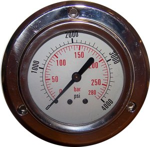 4000 PSI - Panel Flange Gauge