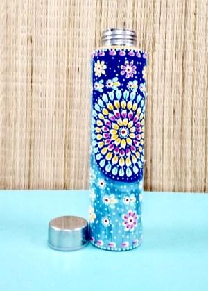 Mandala Painted Water Bottle