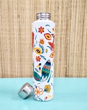 Peacock Painted Water Bottle