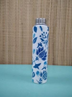 Flower Painted Water Bottle