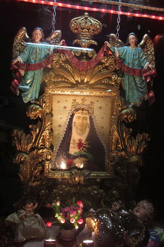 La Virgen Dolorosa del Mercado Central de Quito