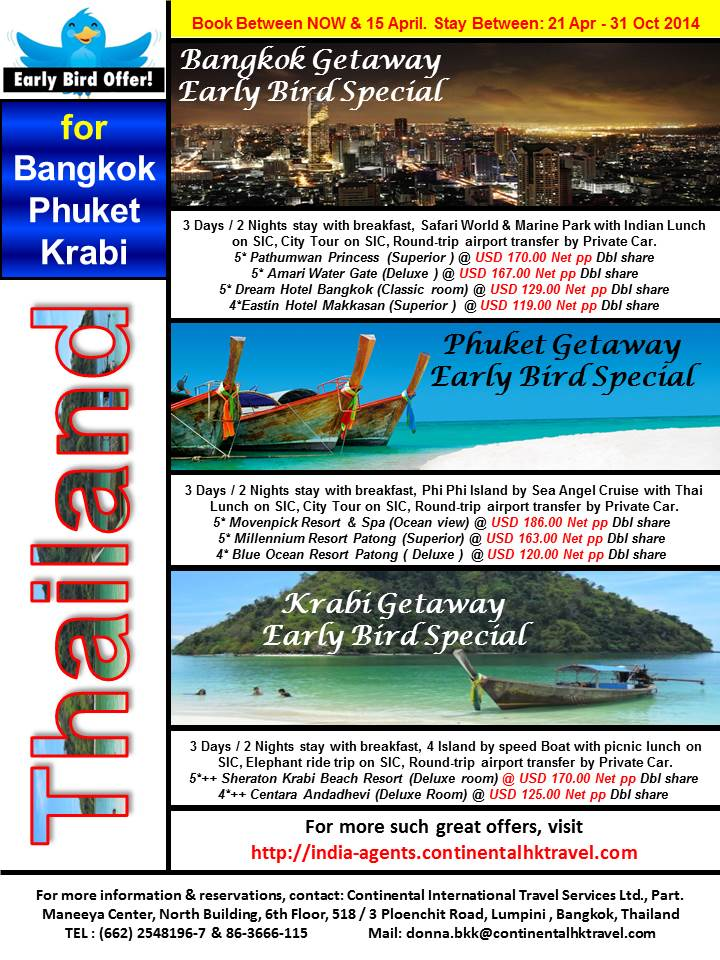 Thailand Early Bird
