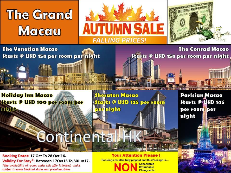 Macau Autumn Sale