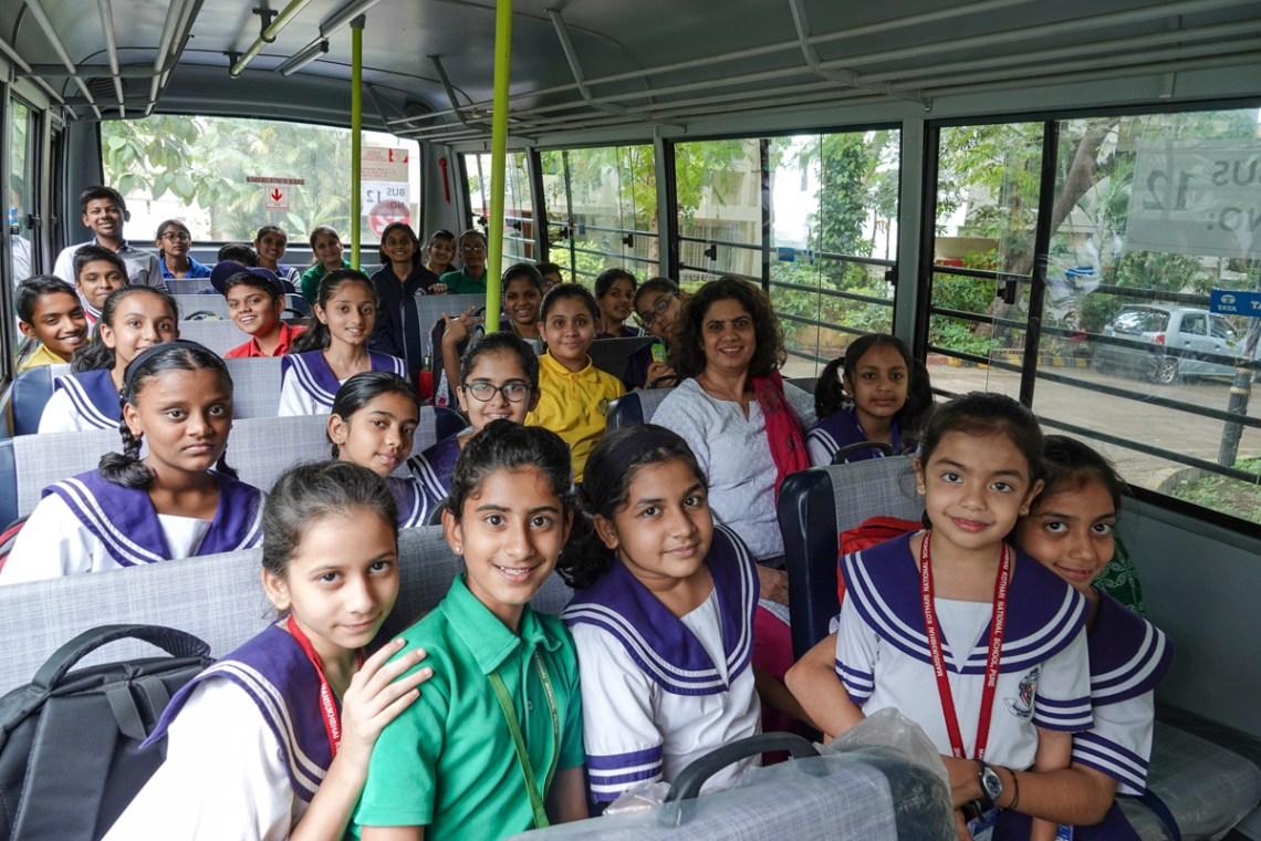 Return bus journey