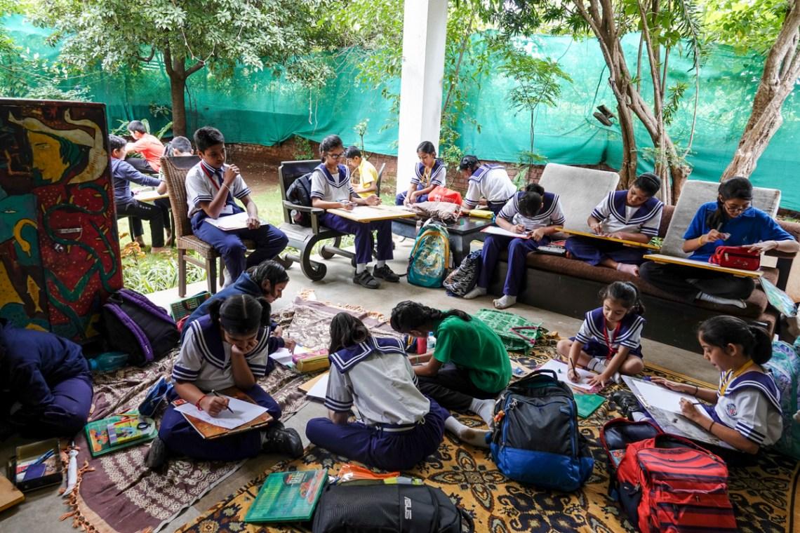 Children from Mansukhbhai Kothari National School, Pune