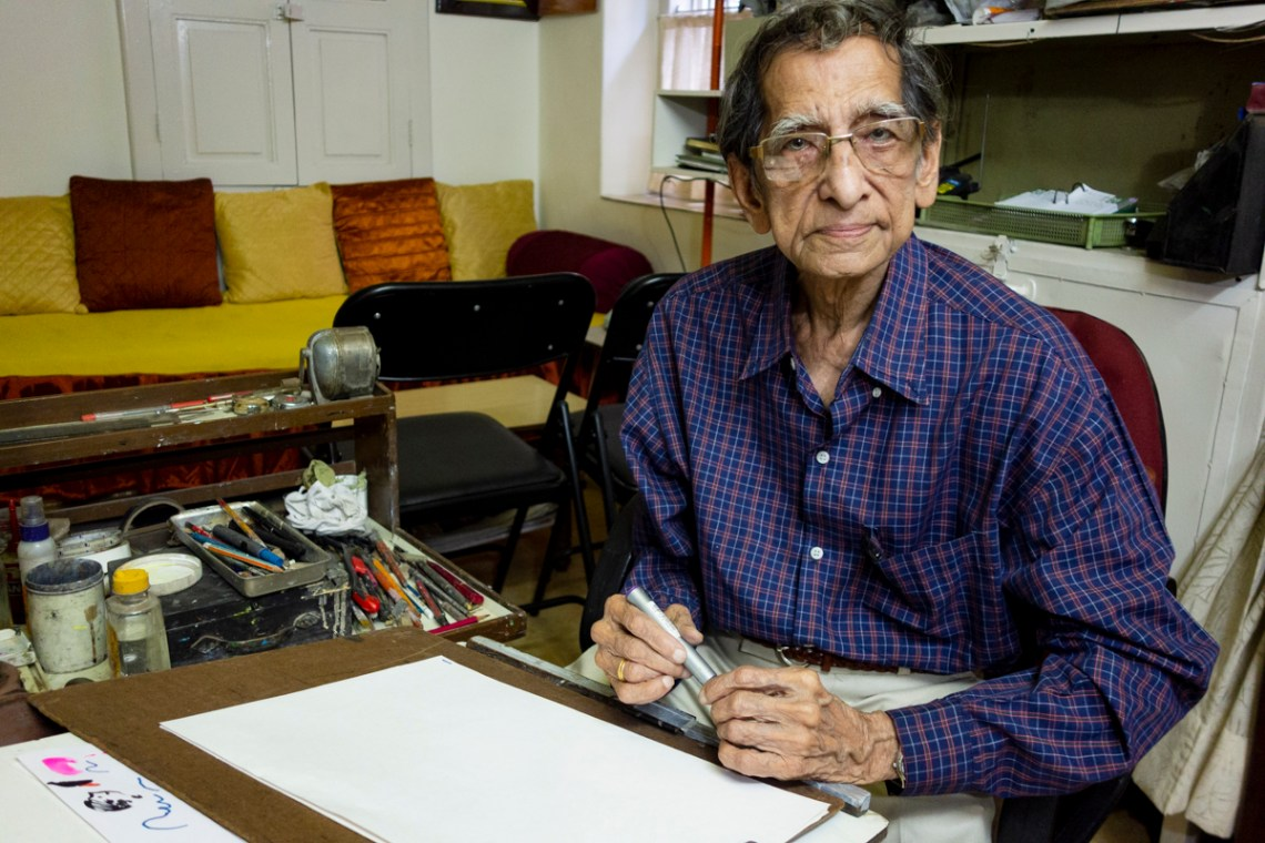 S. D. (Shi Da) Phadnis at his studio