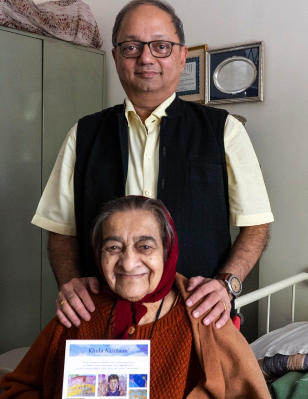 Milind Sathe with Padma Shri Sister Karuna Mary on Christmas Eve
