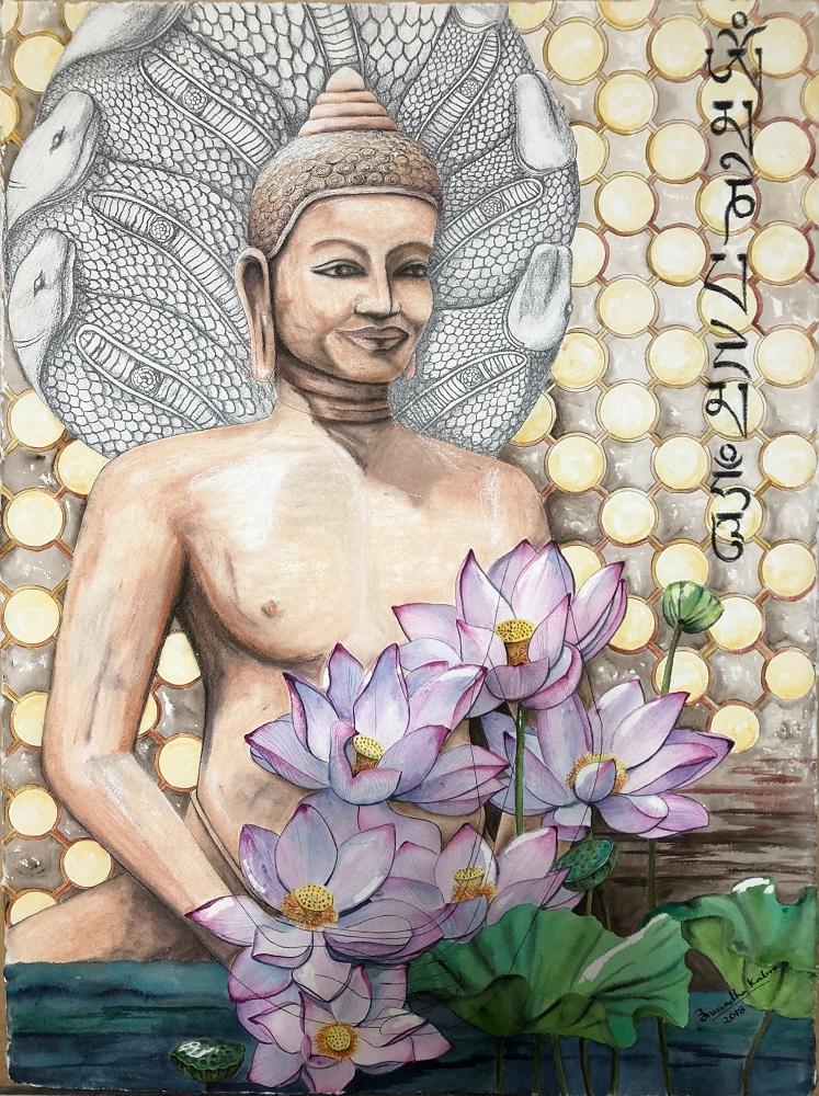 Ikshana, painting by artist Anuradha Kabra