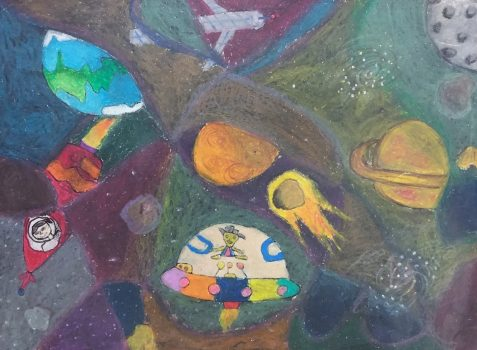 Space painting by child artist Susanna Almeida gets gold medal in Khula Aasmaan art contest
