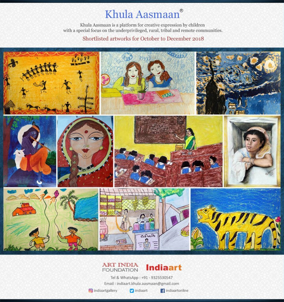 Kids art competition and painting contest Khula Aasmaan shortlist includes tribal children