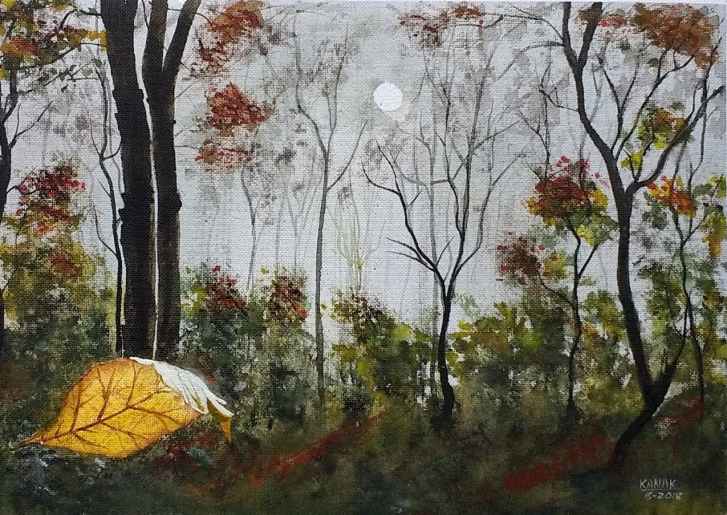 Detached, painting by Kanak Sharma
