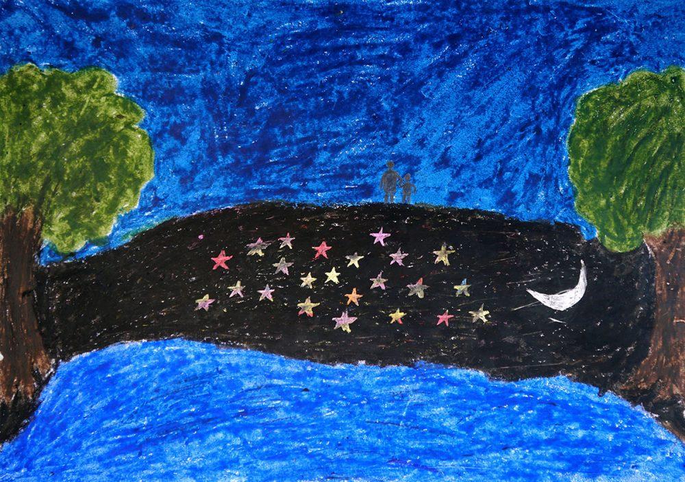 Painting by young artist Sanjay Rade, class 11, Gonde Ashramshala, Dist. Palghar, Maharashtra