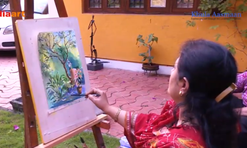 How to paint watercolours, demonstration by artist and art teacher Chitra Vaidya
