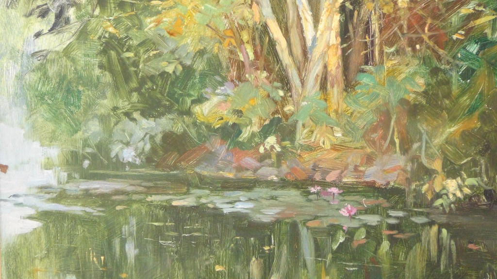 Reflection, Oil on Board , 15 x 19 inches