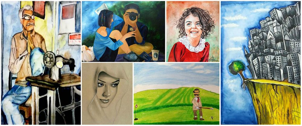 Shortlisted paintings by children from Khula Aasmaan painting competition