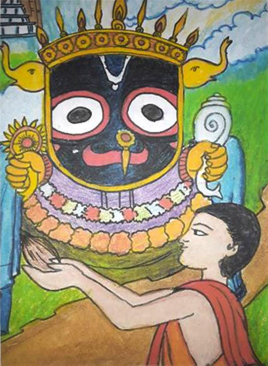 Painting of Jagannath, shortlisted in Khula Aasmaan painting competition