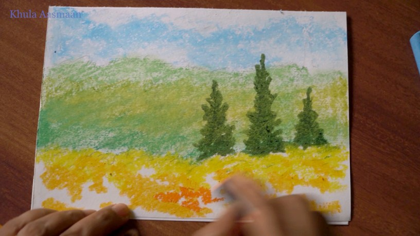 how to do nature painting and landscape painting - painting demonstration video