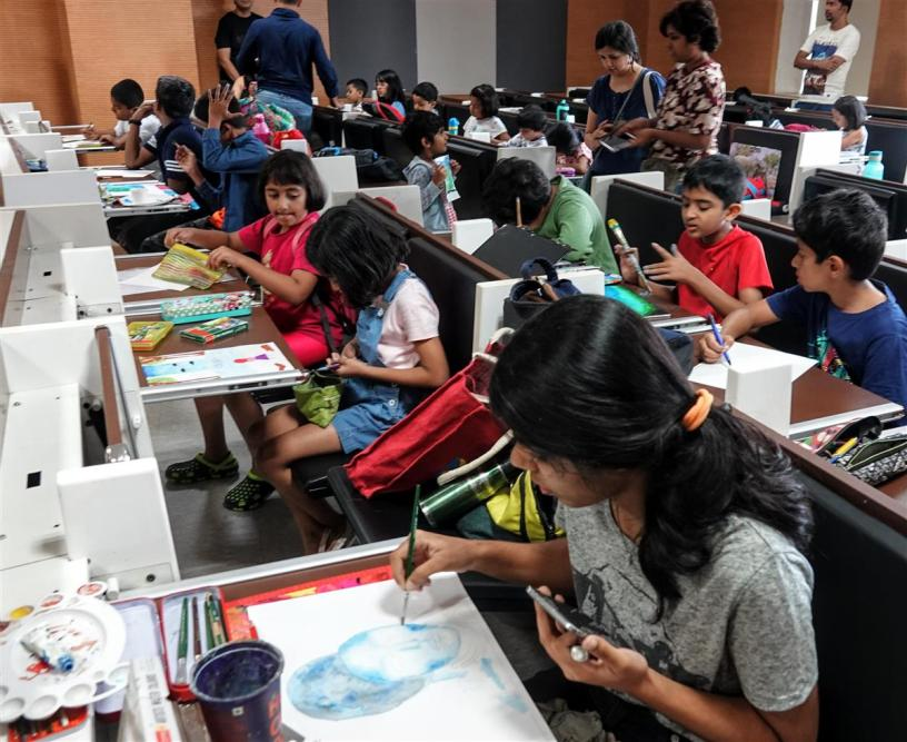 Painting competition picture (National Painting Competition by Khula Aasmaan and IISER Pune)