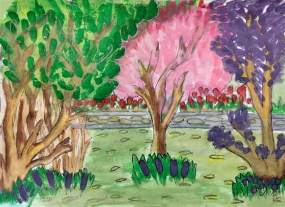 prize winning artwork from science day children's art competition - painting by Mrunal Pradeep Bhosale, Utkarsha English Medium School, Pune