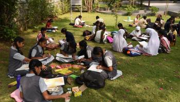 Science Day painting drawing competition by Science Park and Khula Aasmaan