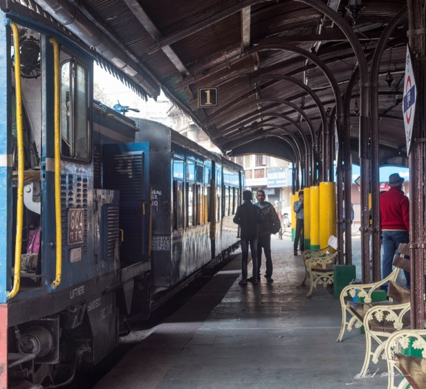 Train to NJP from Darjeeling has a short halt at Ghum station (part of DHR)