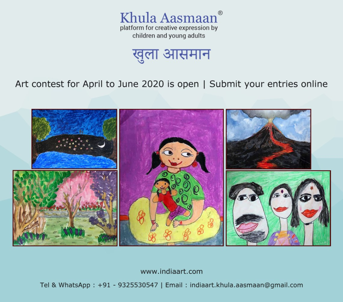 International online art competition by Khula Aasmaan