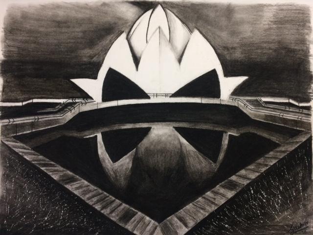 Charcoal sketch by Gauhar Dhir, Pune (Art during Lockdown - Day 2 of Lockdown)