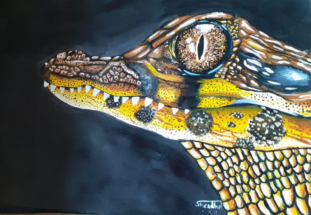 Finished painting by Shradhul Rao (class 8)