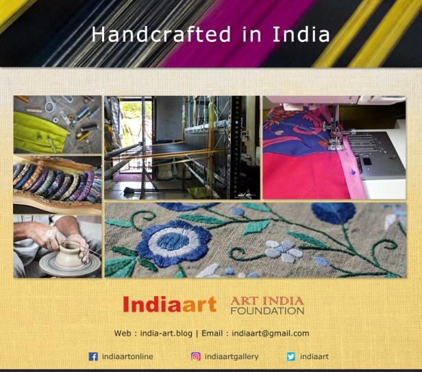 Handcrafted in India will promote artisans, craftspersons, self help groups, societies; who create handmade products and provide livelihood opportunities to the needy in rural, remote and tribal communities.