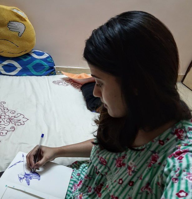 Amruta Patwardhan paints Lord Rama