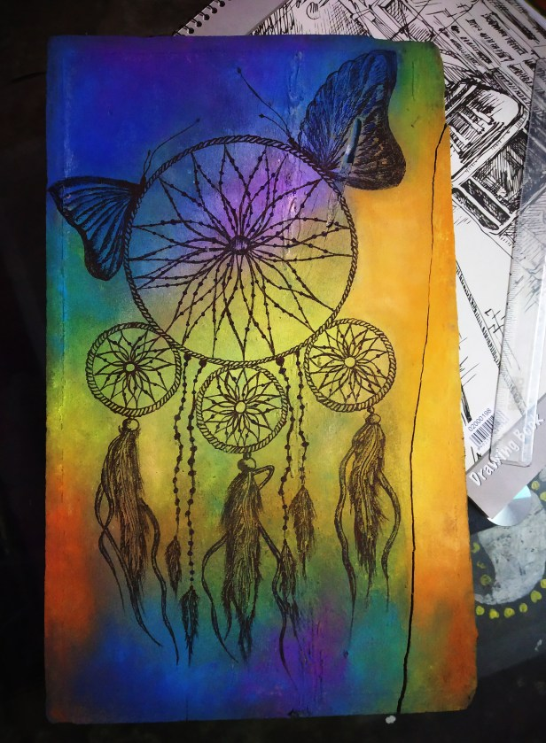 Dreamcatcher, painting by Sutopa Chakraborty - part of the project of lockdown paintings to fight Covid-19 pandemic