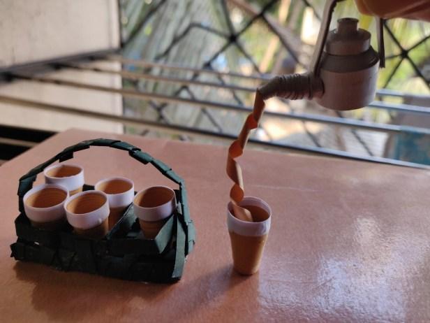 Tapri vali chai -4, made using Quilling paper strip by Ankita Koyande, Mumbai