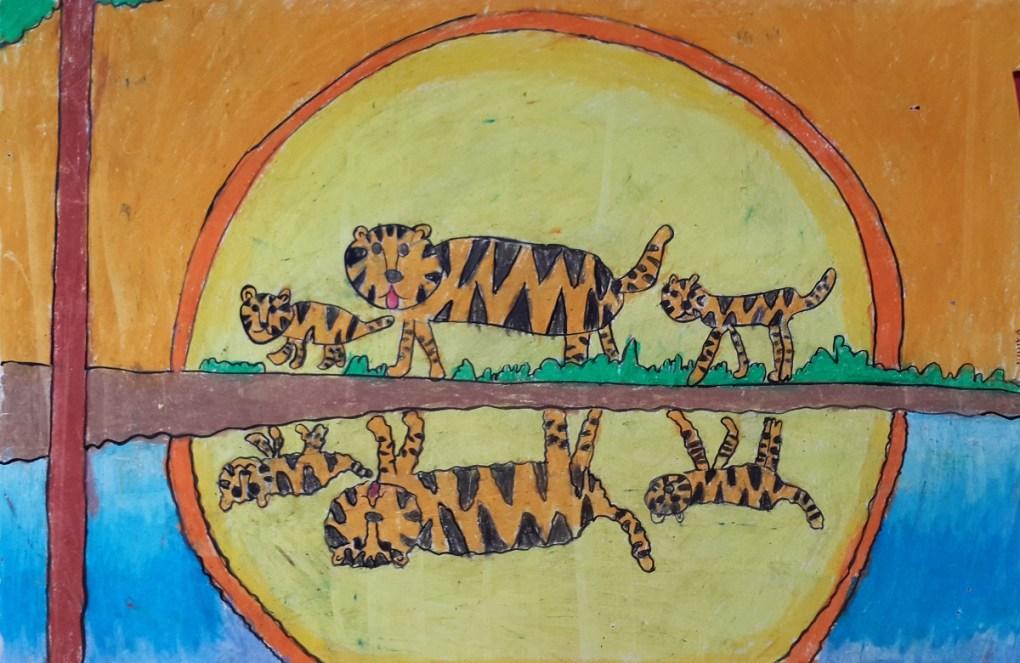 Painting by Mihika Jagtap (9 years), J B Petit High school for Girls, Mumbai