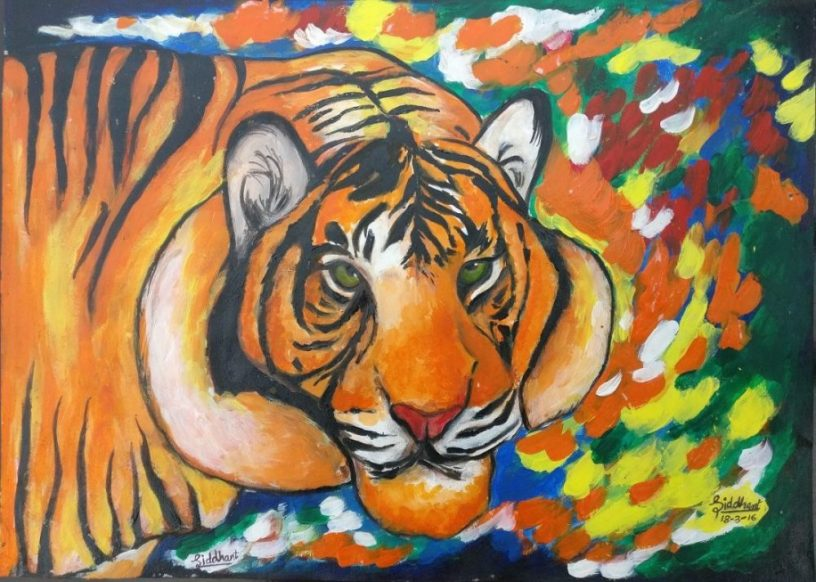 Painting by Siddhanth Mukul Saha (14 years), D.A.V. International School, Ahmedabad